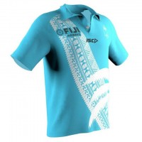 FIJI 2019 7'S Rugby Polo Blue Shirt